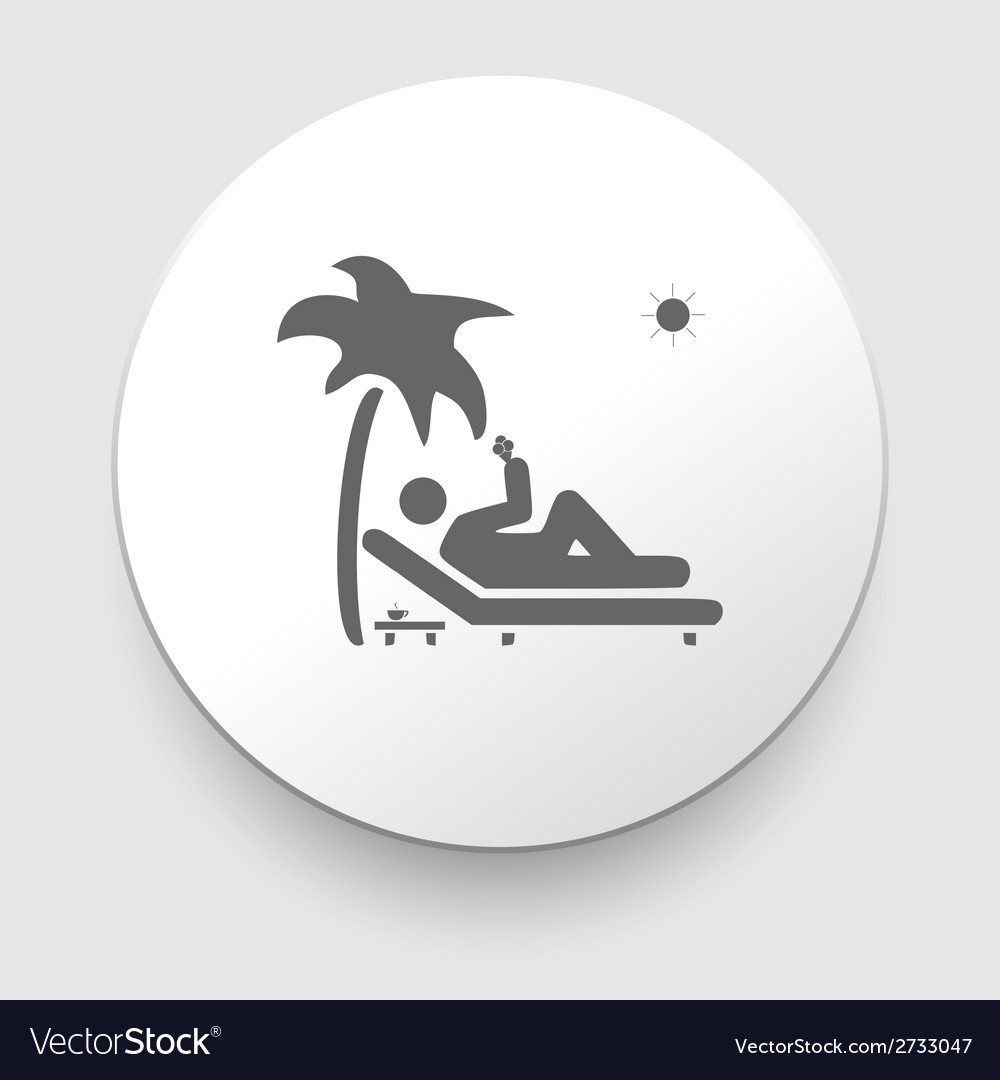 Icon showing a man relaxing vector | Price: 1 Credit (USD $1)