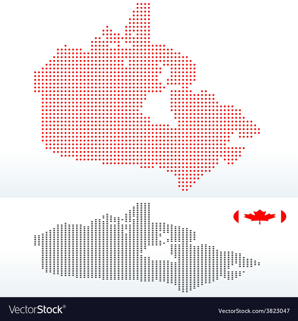 Map of canada with with dot pattern vector | Price: 1 Credit (USD $1)