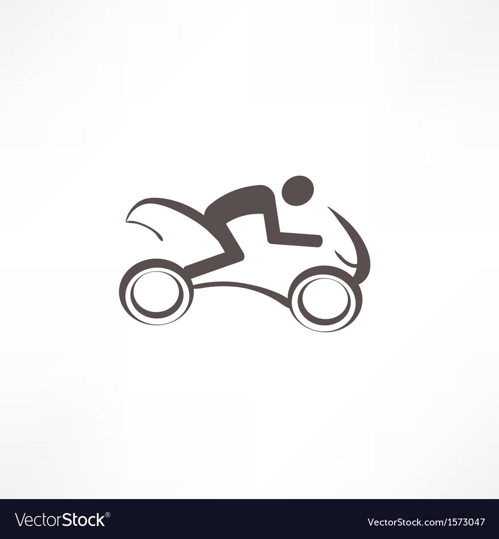 Motorcyclist icon vector | Price: 1 Credit (USD $1)
