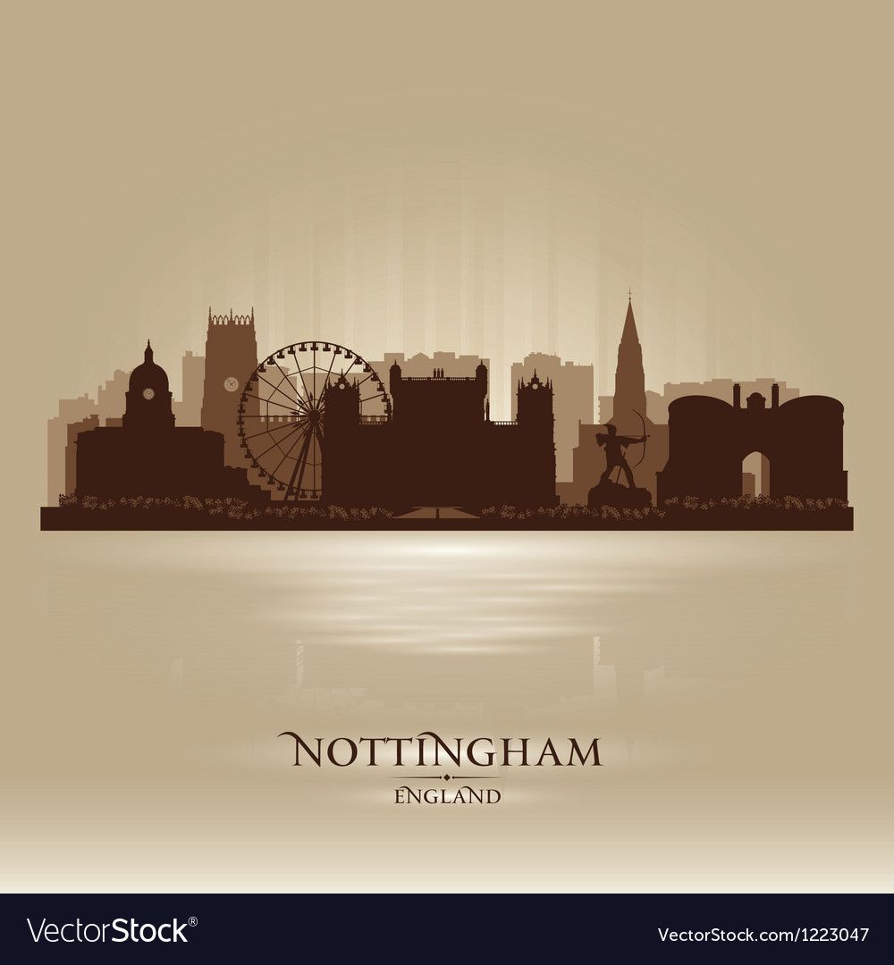 Nottingham england skyline city silhouette vector | Price: 1 Credit (USD $1)