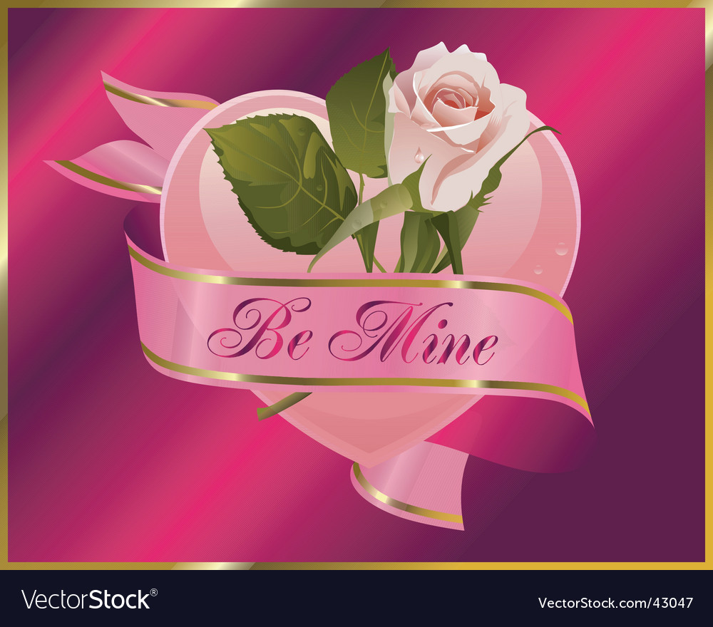 Rosebud with banner vector | Price: 1 Credit (USD $1)