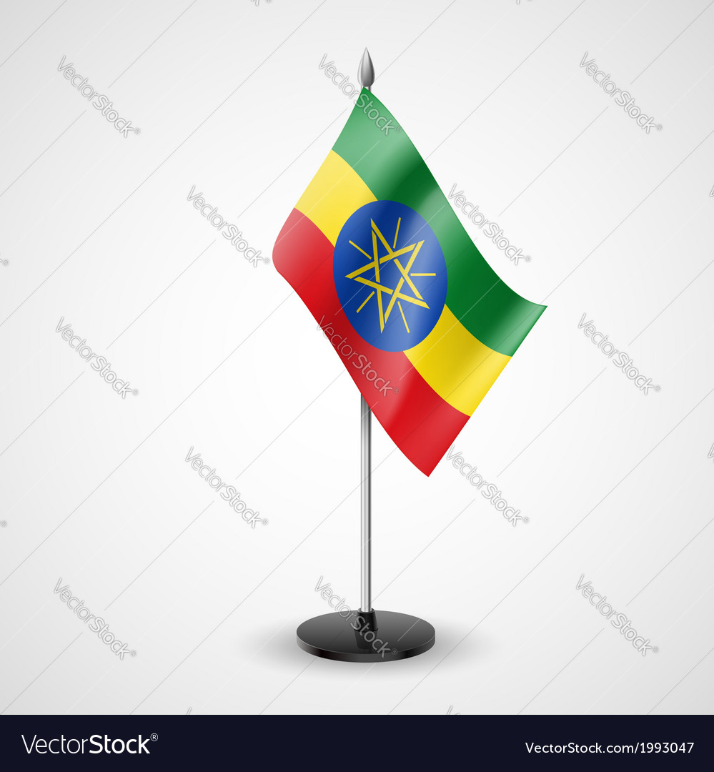 Table flag of ethiopia vector | Price: 1 Credit (USD $1)