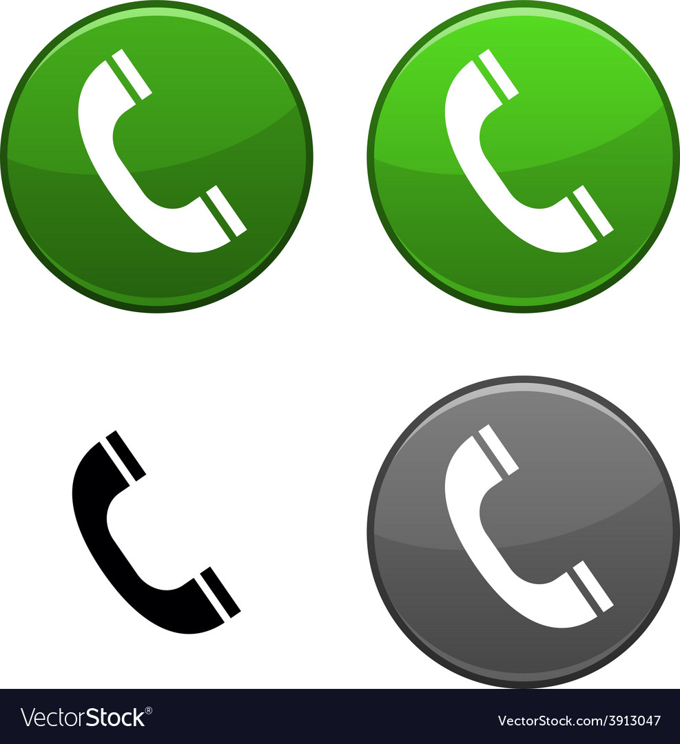 Telephone button vector | Price: 1 Credit (USD $1)
