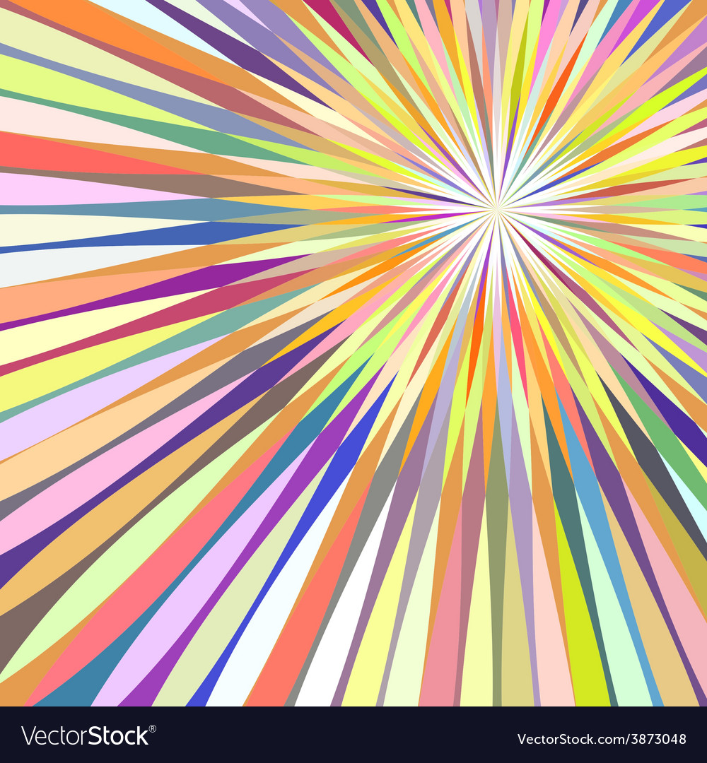 Abstract colorful rays background vector | Price: 1 Credit (USD $1)