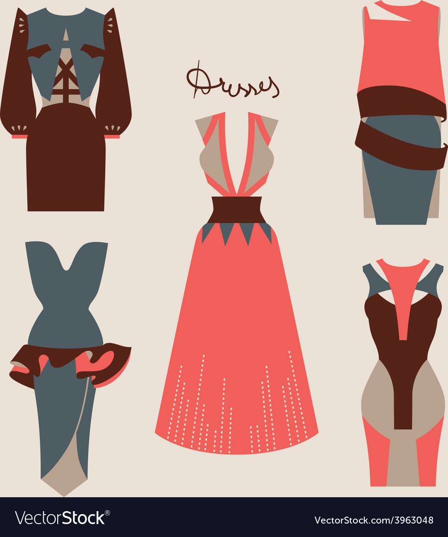 Beautiful woman dresses eps 10 vector | Price: 1 Credit (USD $1)