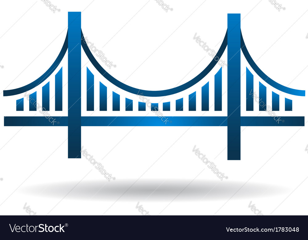 Bridge blue icon logo vector | Price: 1 Credit (USD $1)