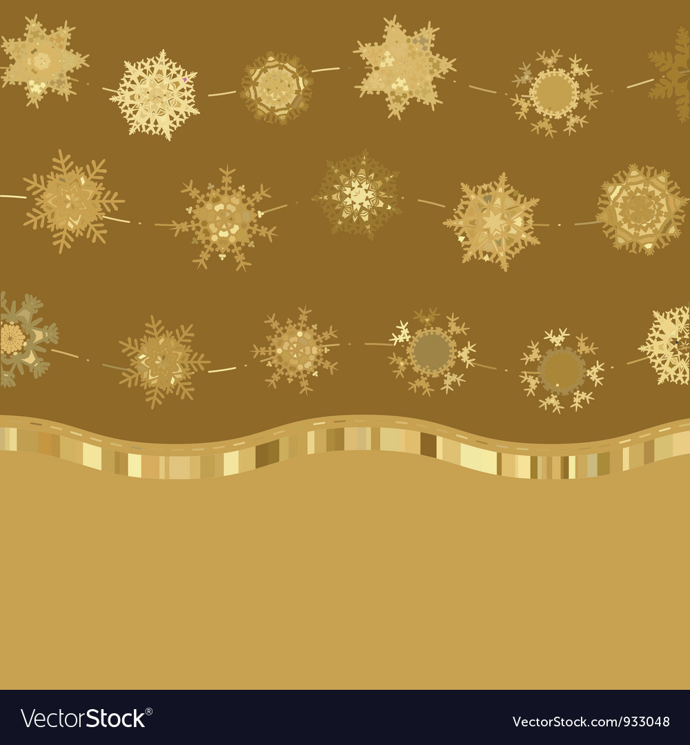 Christmas golden snowflakes background vector | Price: 1 Credit (USD $1)