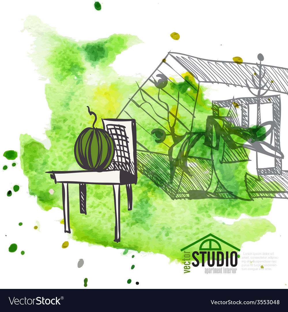 Creative abstract interior design vector | Price: 1 Credit (USD $1)