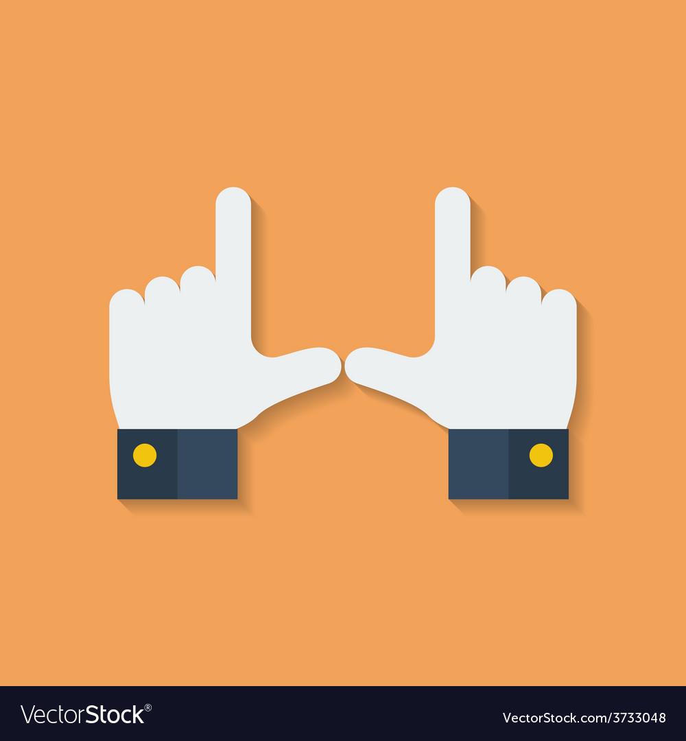 Frame of fingers or hands flat style vector | Price: 1 Credit (USD $1)