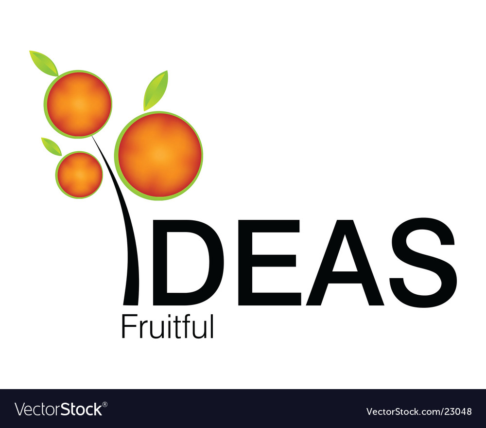 Fruitful idea logo vector | Price: 1 Credit (USD $1)