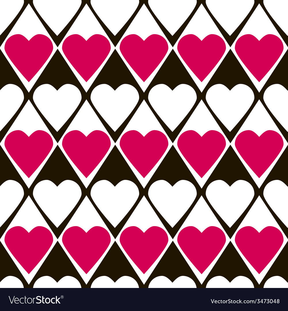 Geometrical valentines day seamless pattern vector | Price: 1 Credit (USD $1)