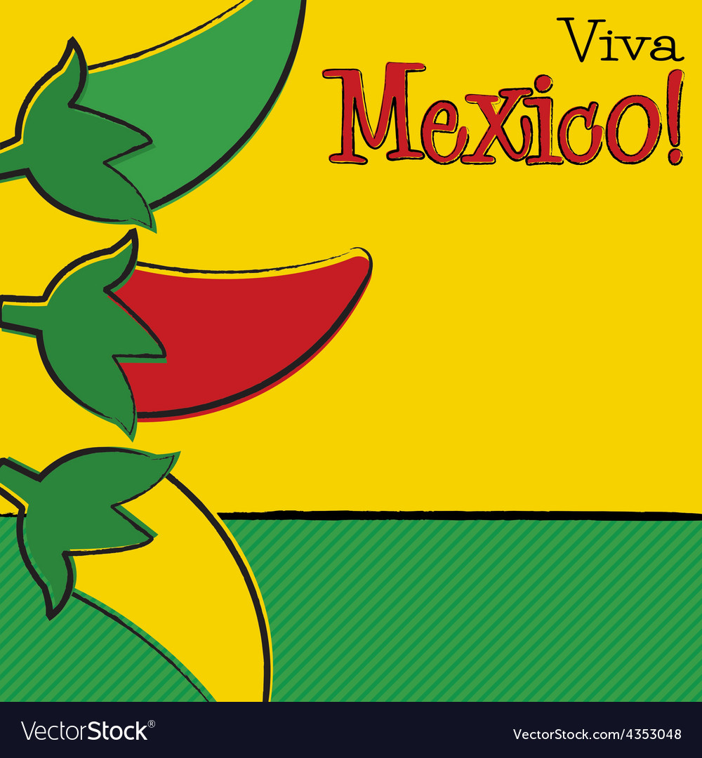 Hand drawn cinco de mayo chili pepper in format vector   Price: 1 Credit (USD $1)