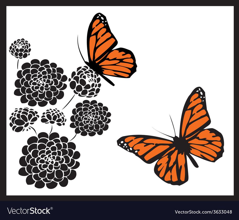 Monarch butterflies vector | Price: 1 Credit (USD $1)