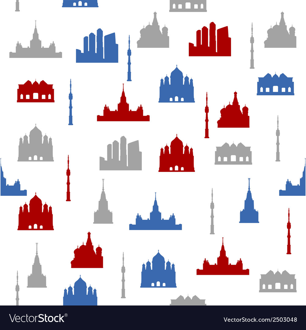 Moscow seamless pattern vector | Price: 1 Credit (USD $1)