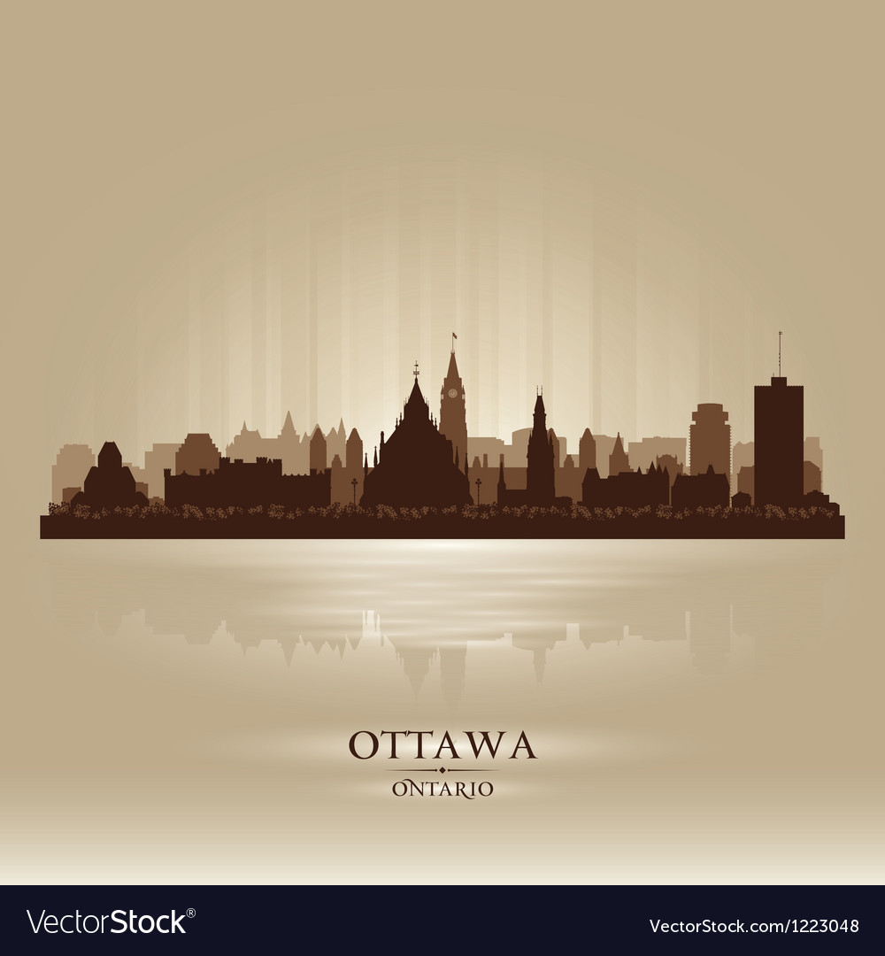 Ottawa ontario skyline city silhouette vector | Price: 1 Credit (USD $1)
