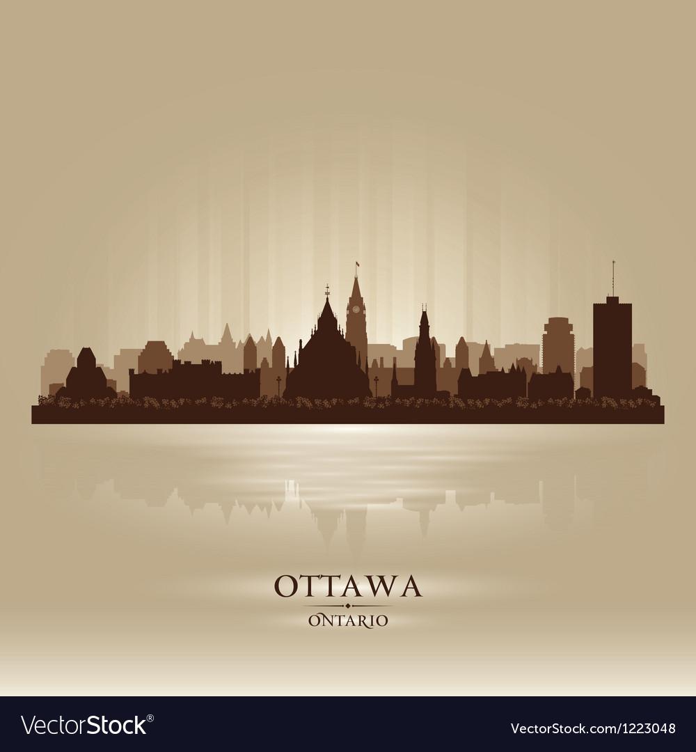 Ottawa ontario skyline city silhouette vector | Price: 1 Credit (USD $1)