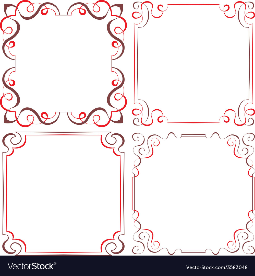 Set of different decorative frames vector | Price: 1 Credit (USD $1)