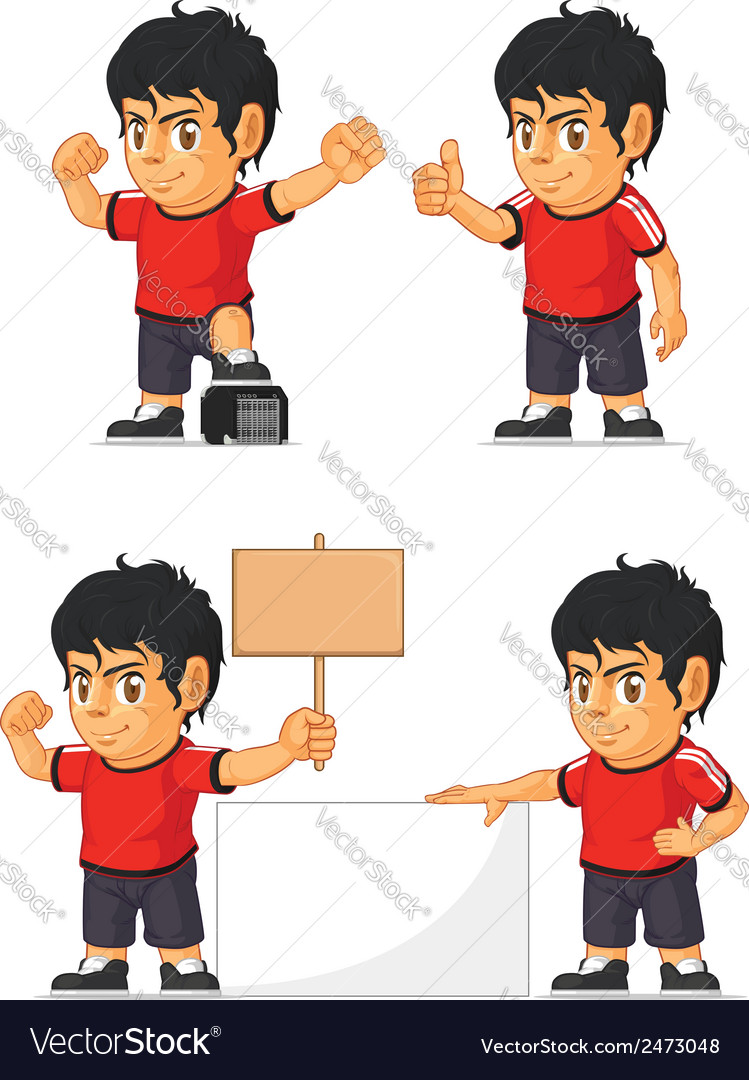 Soccer boy customizable mascot 18 vector | Price: 1 Credit (USD $1)
