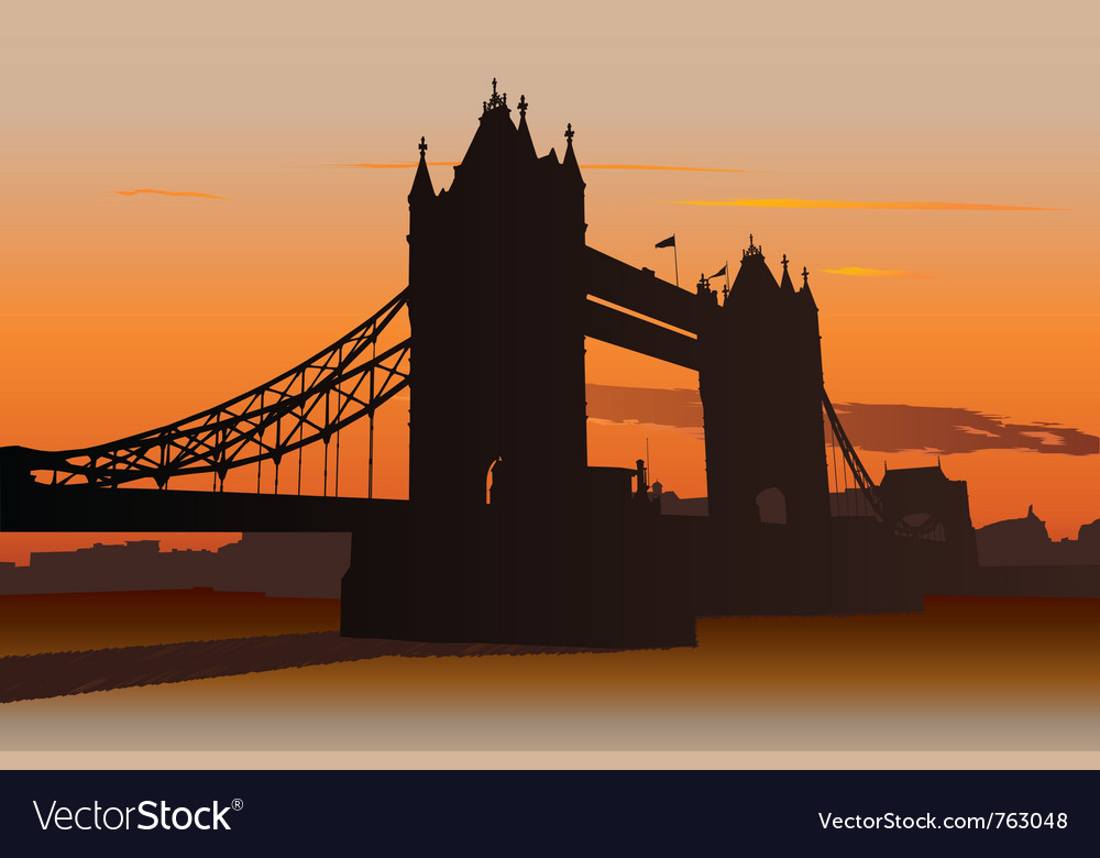 Tower bridge in london vector | Price: 1 Credit (USD $1)