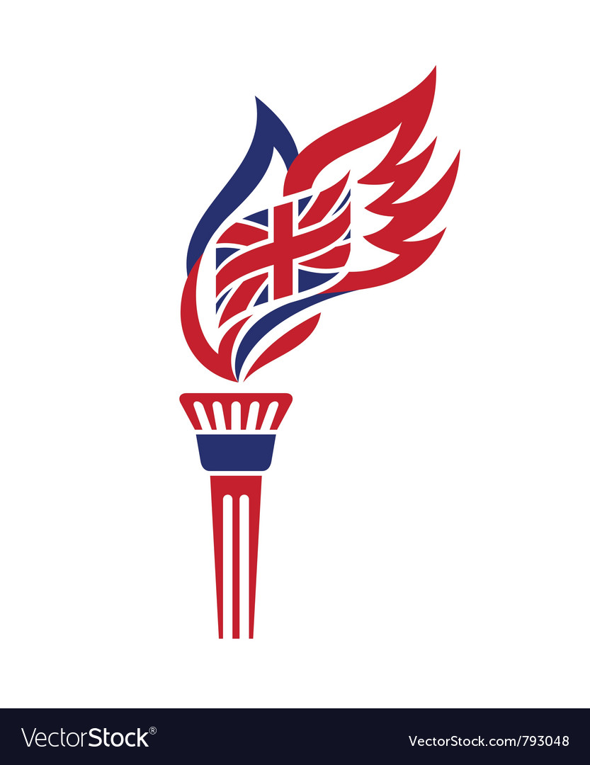 Uk torch vector | Price: 1 Credit (USD $1)