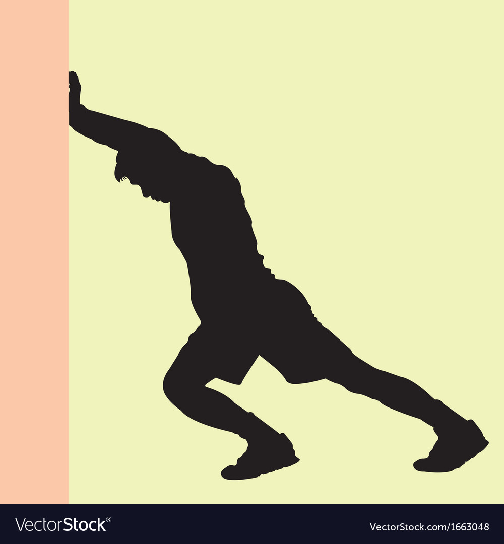 Warm up silhouette vector | Price: 1 Credit (USD $1)