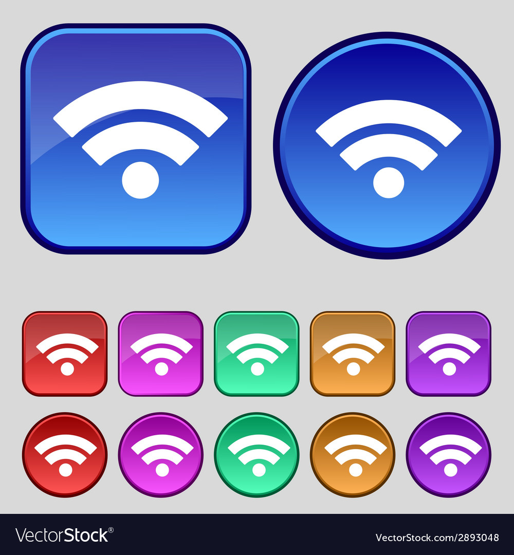 Wifi sign wi-fi symbol wireless network icon zone vector | Price: 1 Credit (USD $1)