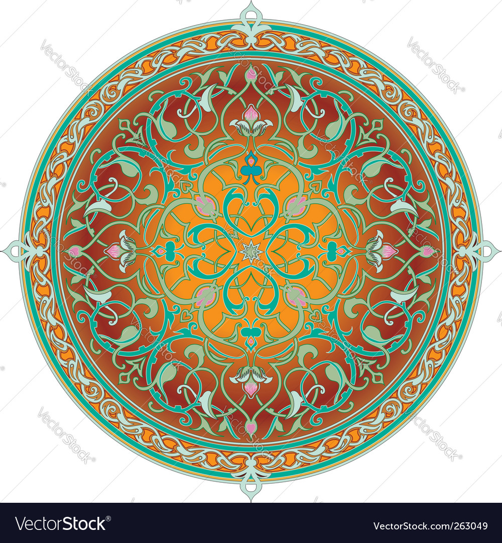 Arabic floral pattern vector   Price: 1 Credit (USD $1)