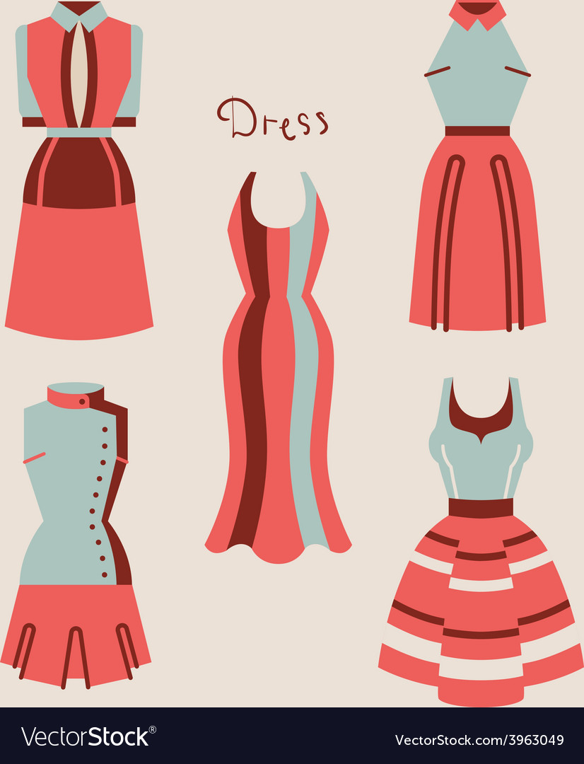 Beautiful woman dresses eps 10 vector   Price: 1 Credit (USD $1)