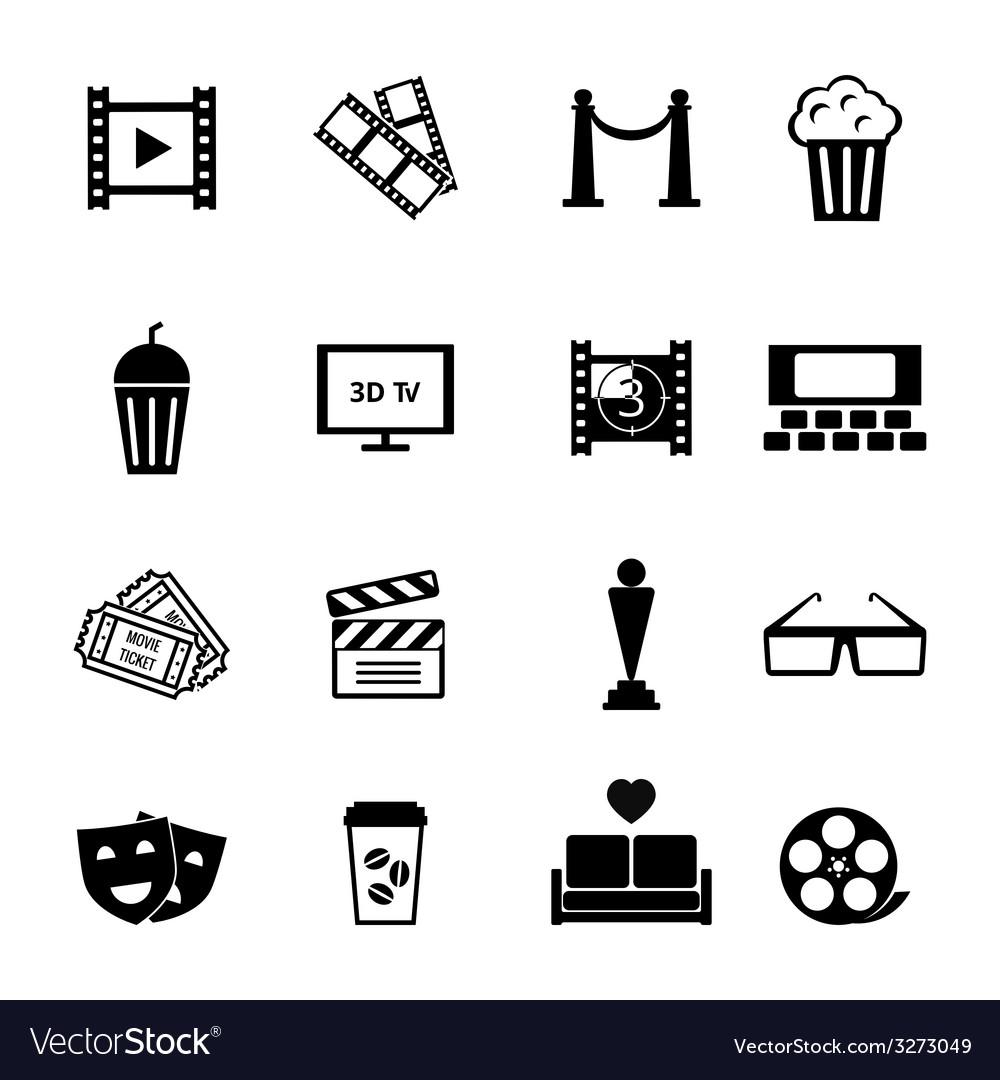 Black and white movie icon designs vector | Price: 1 Credit (USD $1)
