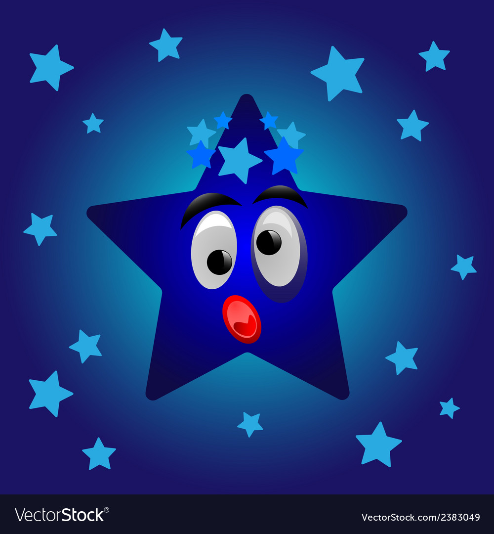 Cartoon star vector | Price: 1 Credit (USD $1)