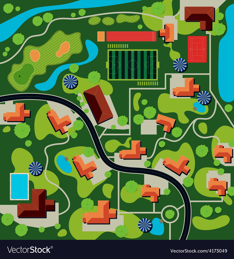 City plan vector | Price: 1 Credit (USD $1)