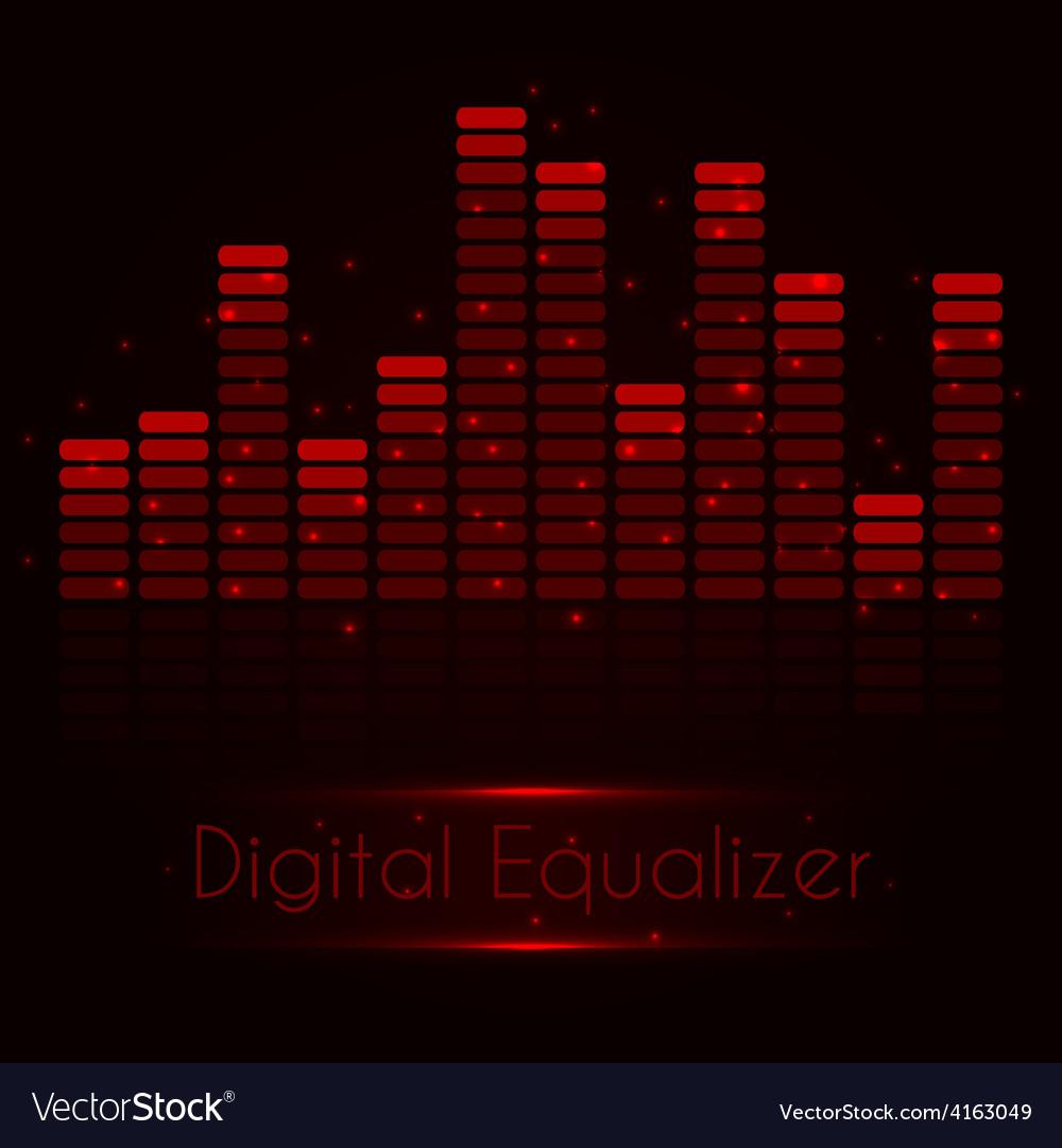 Digital red equalizer vector   Price: 1 Credit (USD $1)