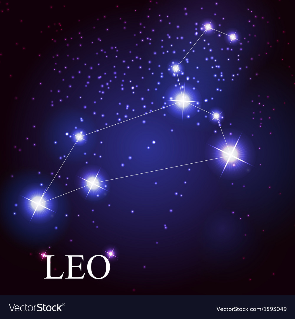 Leo zodiac sign of the beautiful bright stars vector | Price: 1 Credit (USD $1)