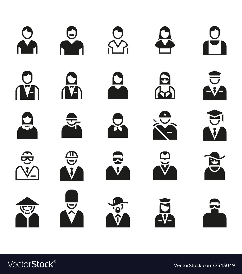 People icon symbol logo set vector | Price: 1 Credit (USD $1)