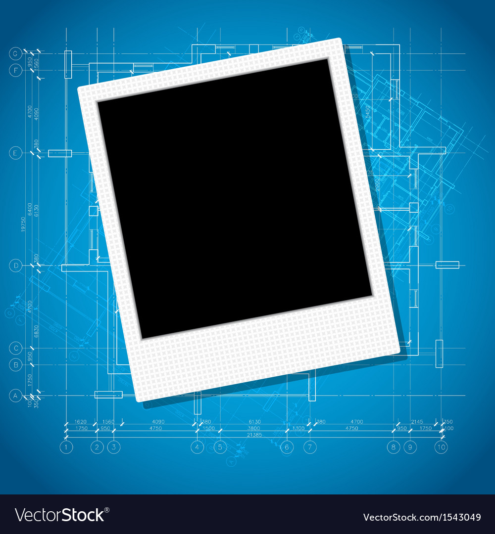 Photo on architecture background vector
