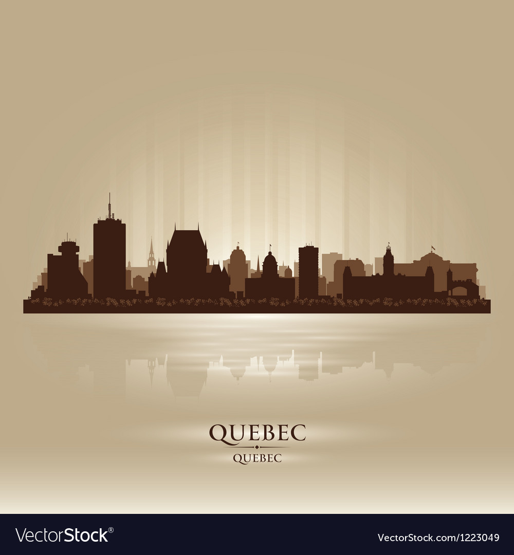 Quebec canada skyline city silhouette vector | Price: 1 Credit (USD $1)