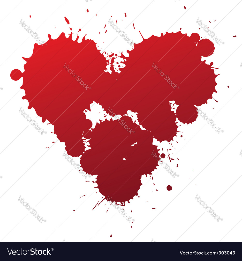 Red splash heart vector | Price: 1 Credit (USD $1)
