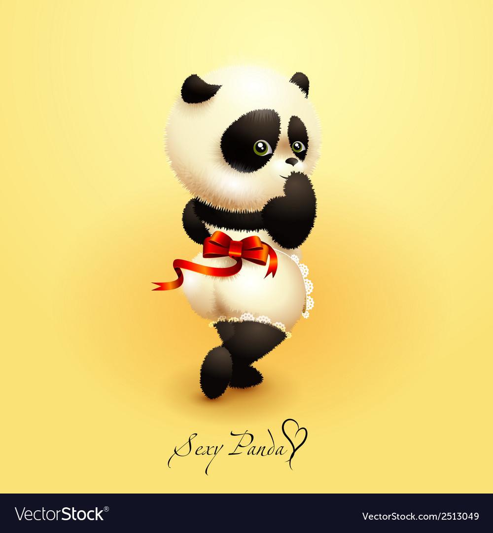 Sexy panda vector | Price: 3 Credit (USD $3)