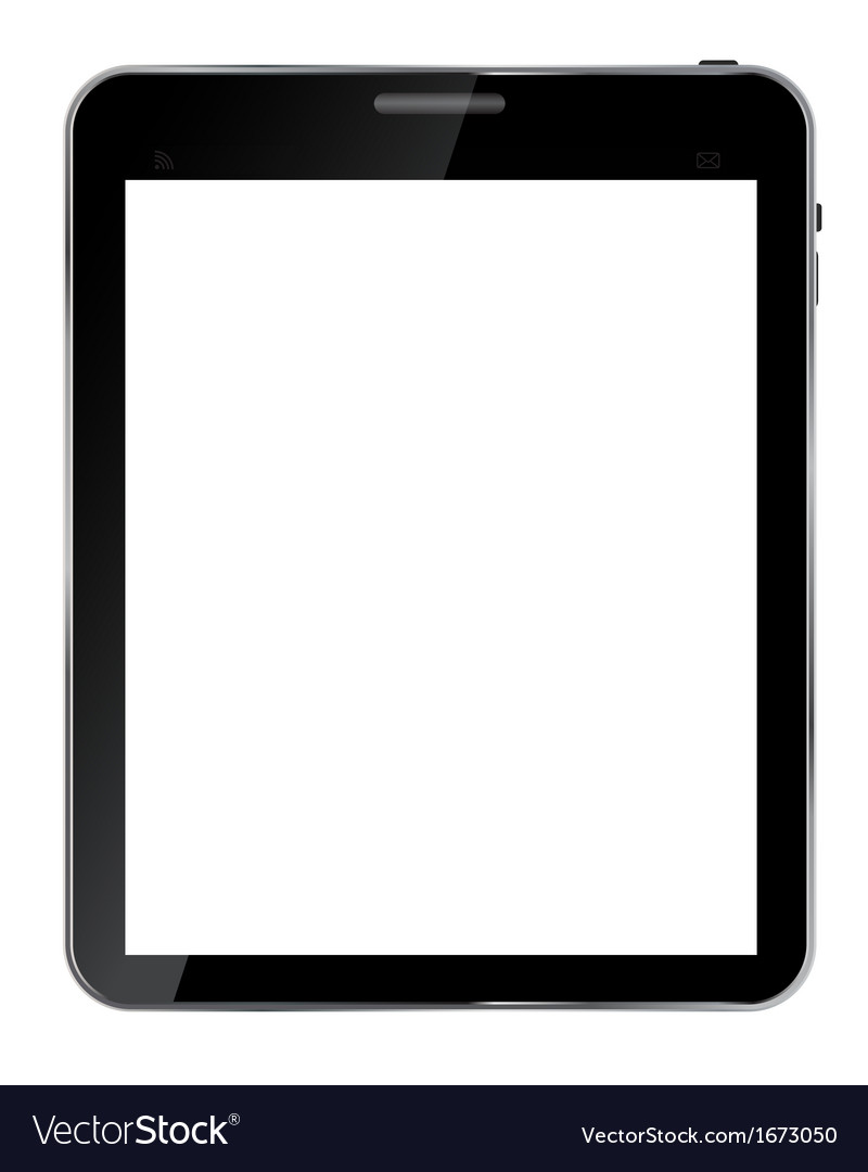 Abstract design realistic tablet with blank screen vector   Price: 1 Credit (USD $1)