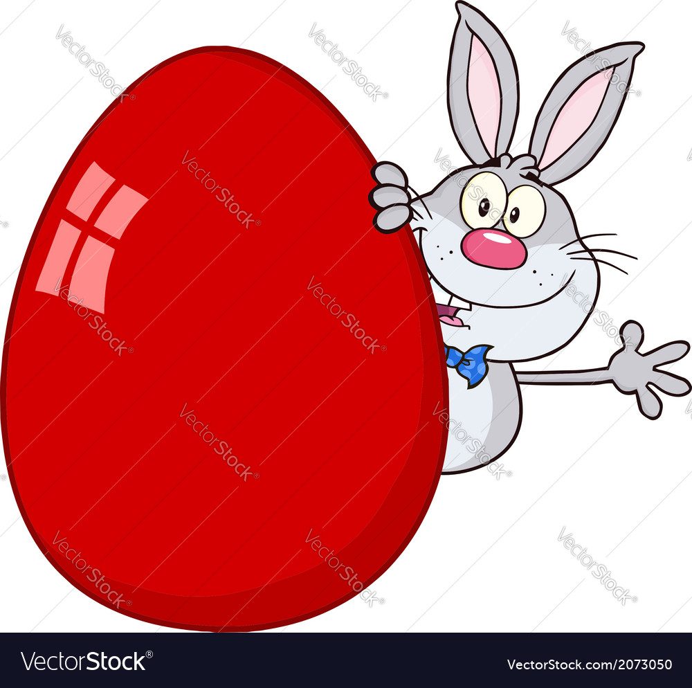 Cartoon easter bunny vector   Price: 1 Credit (USD $1)