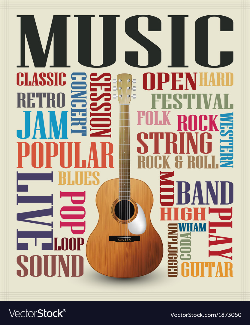 Conceptual guitar poster vector | Price: 1 Credit (USD $1)
