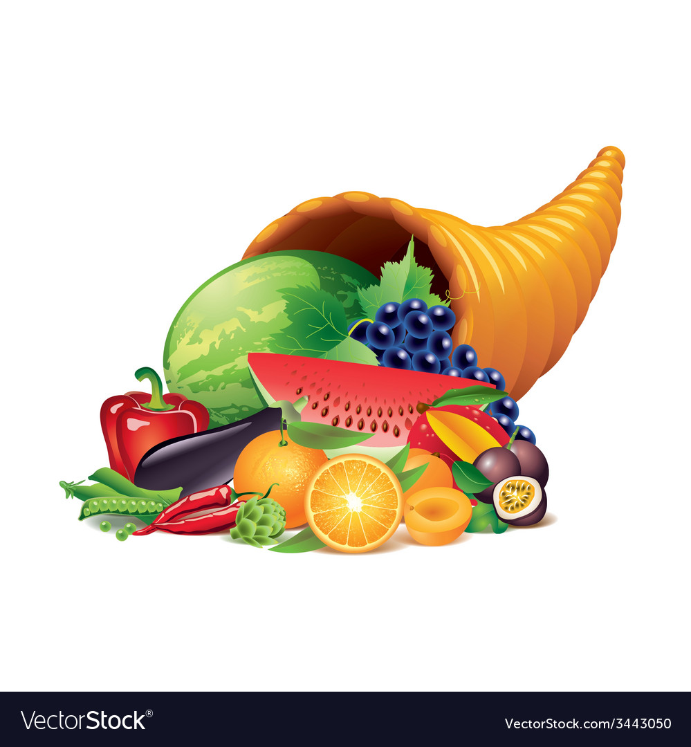 Cornucopia isolated vector | Price: 1 Credit (USD $1)