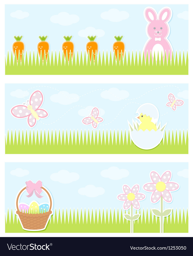 Easter banner vector | Price: 1 Credit (USD $1)