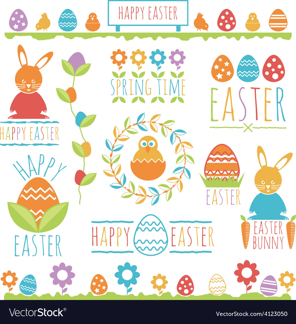Easter decorations vector | Price: 1 Credit (USD $1)