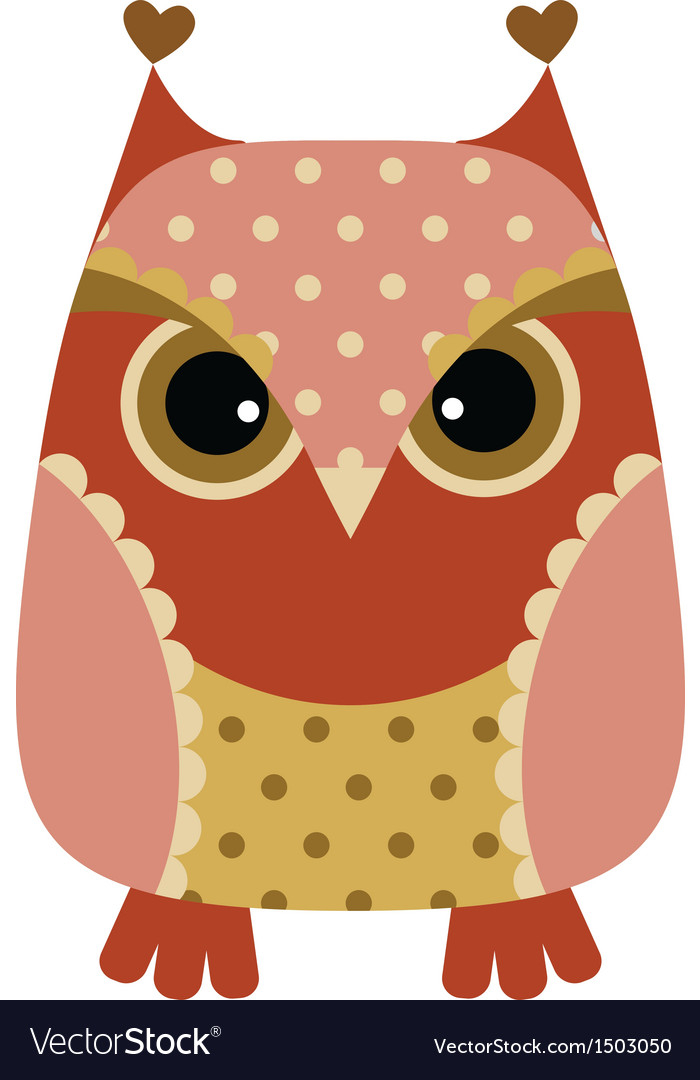 Funny cartoon owl vector | Price: 1 Credit (USD $1)