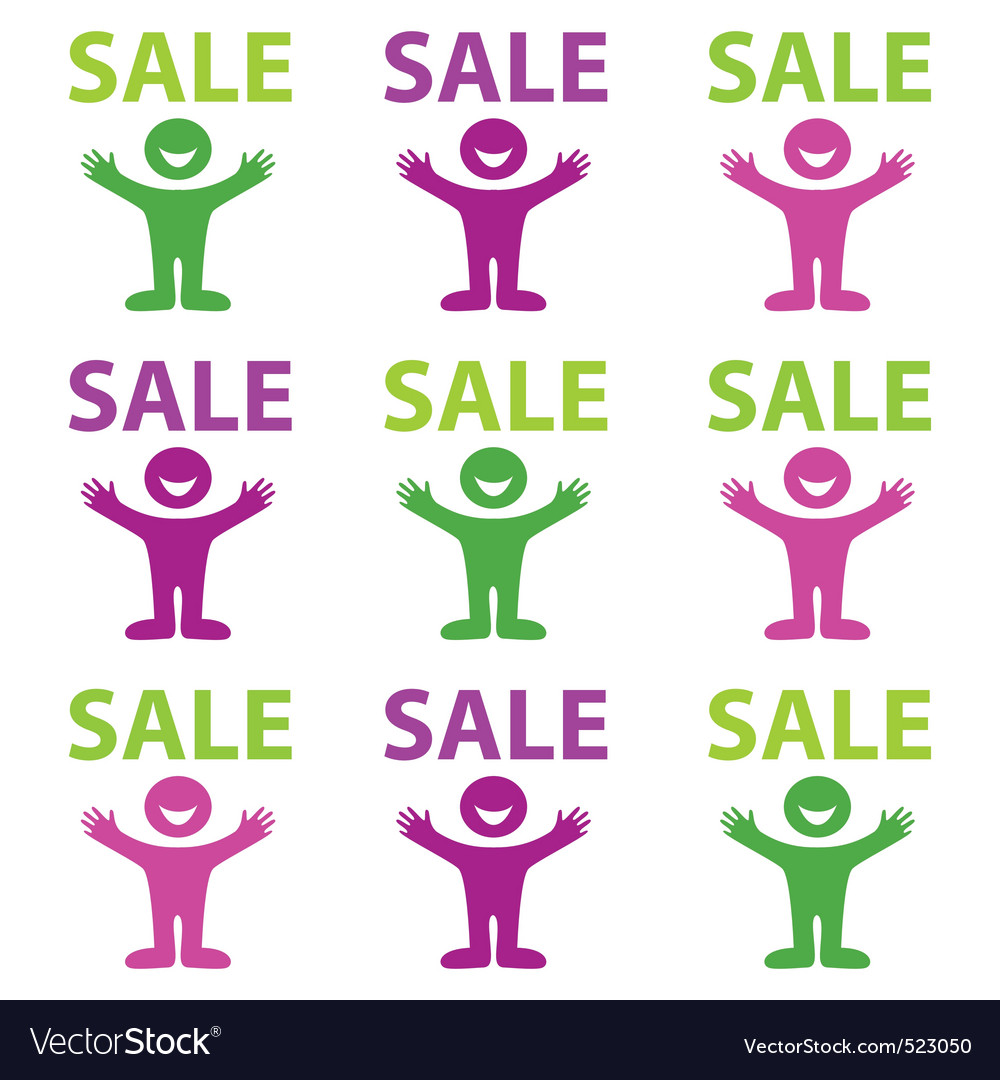 Happy sale vector | Price: 1 Credit (USD $1)
