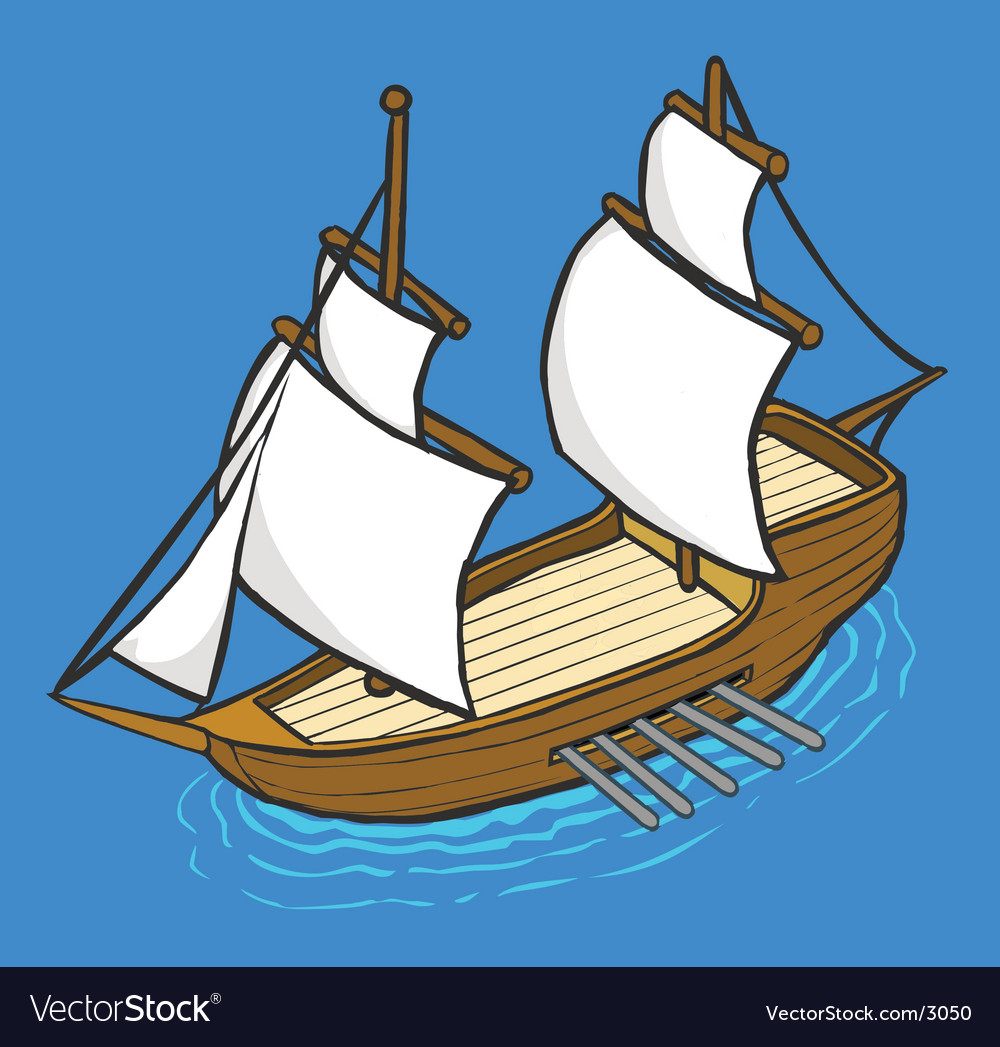 Historical galleon vector | Price: 1 Credit (USD $1)