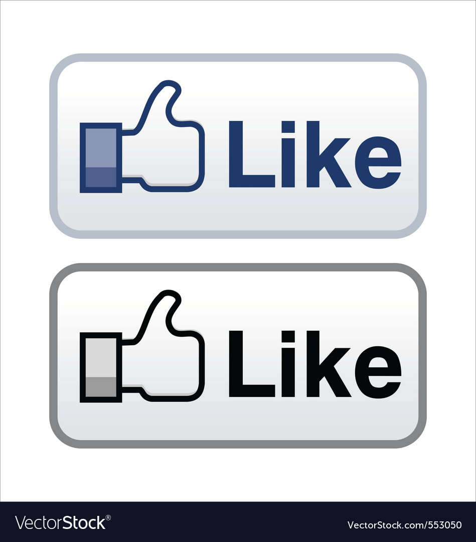 Like button vector | Price: 1 Credit (USD $1)