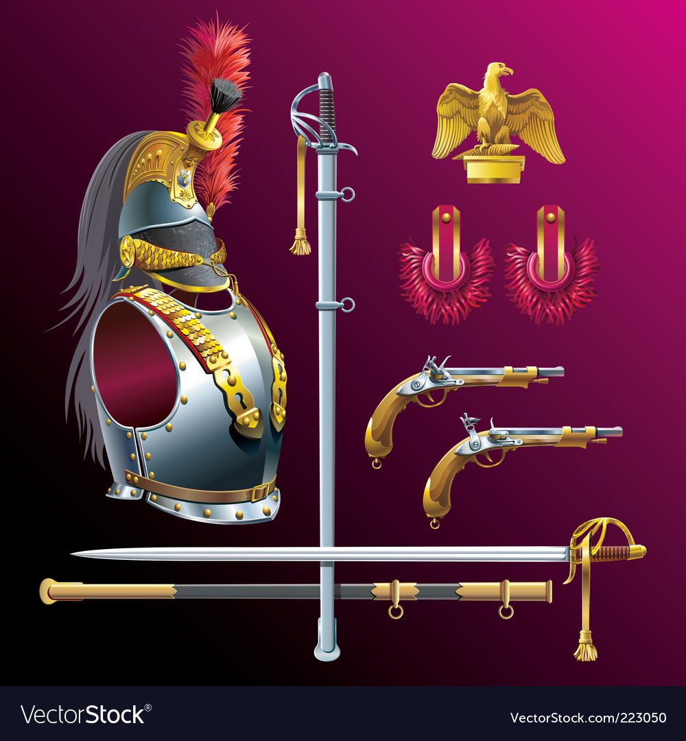 Napoleonic cuirassiers armament vector | Price: 3 Credit (USD $3)