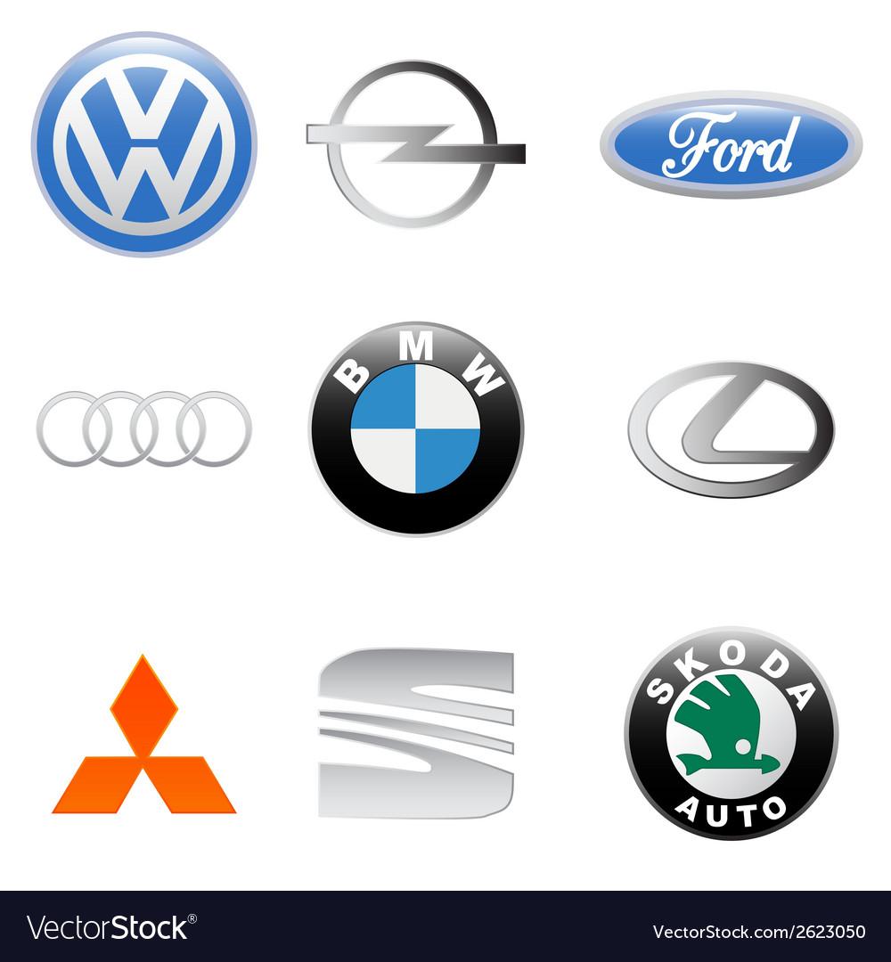 New auto logo set vector | Price: 1 Credit (USD $1)